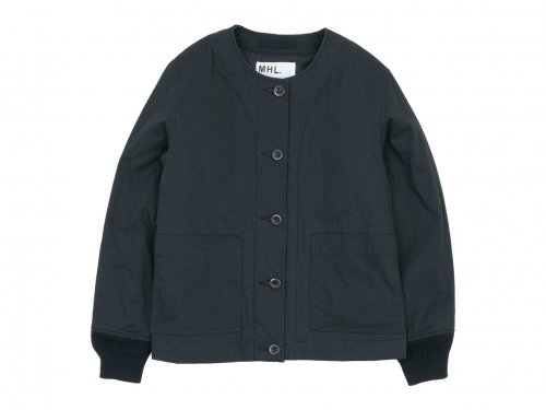 MHL. DRY COTTON TWILL INNER JACKET 010BLACK 〔レディース〕