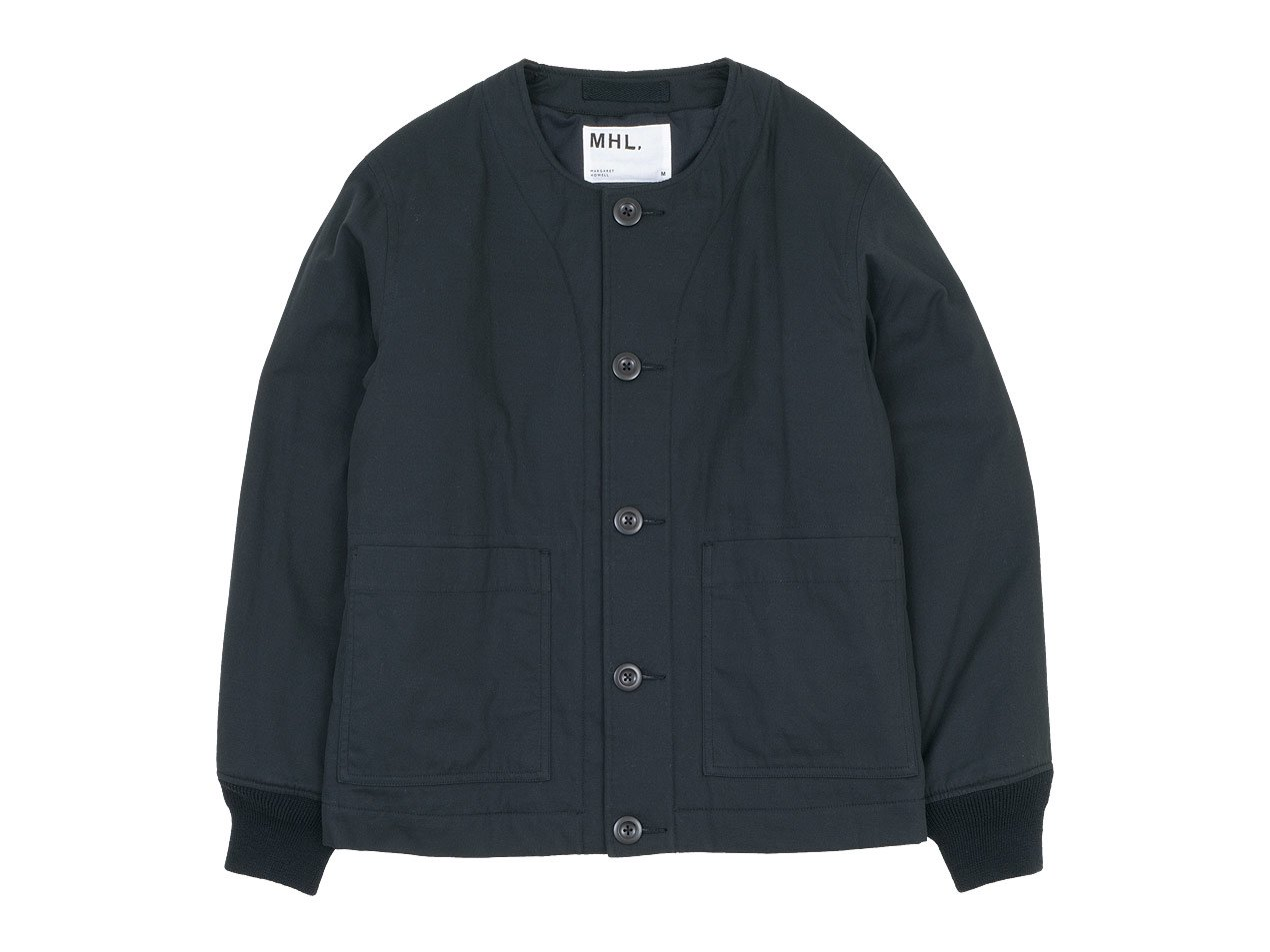 MHL. DRY COTTON TWILL INNER JACKET 010BLACK 〔メンズ〕