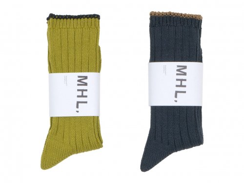 MHL. TIPPED COTTON RIB SOCKS 〔メンズ〕
