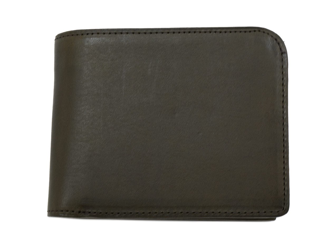 MARGARET HOWELL x PORTER OIL LEATHER FOLDED WALLET 182OLIVE