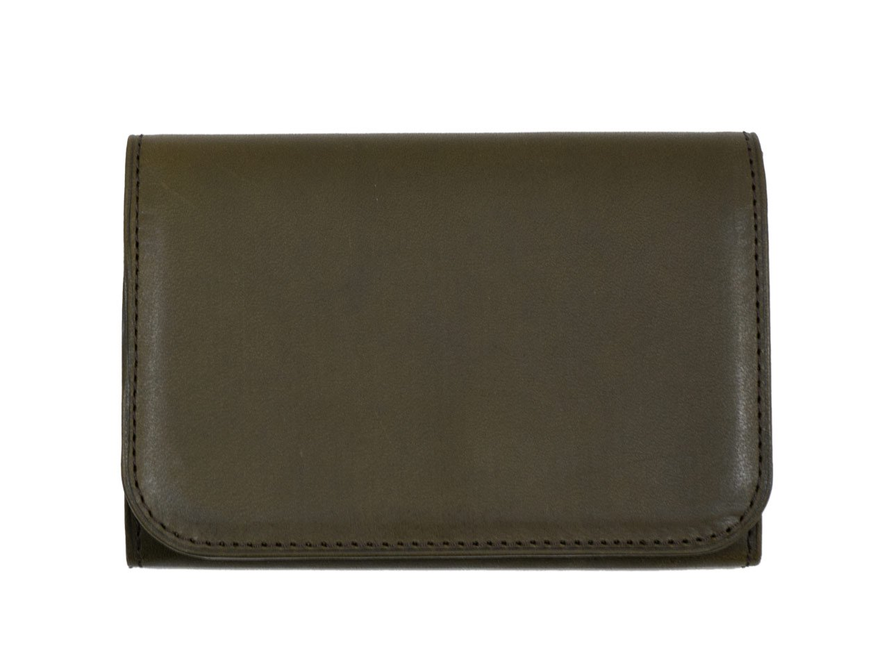 MARGARET HOWELL x PORTER OIL LEATHER CARD CASE 182OLIVE