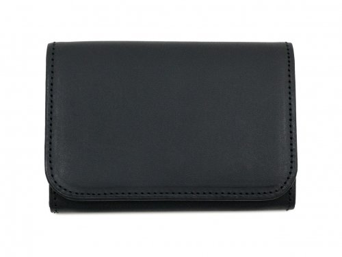 MARGARET HOWELL x PORTER OIL LEATHER CARD CASE 010BLACK