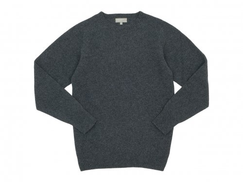 MARGARET HOWELL MERINO CASHMERE CREW KNIT 023CHARCOAL 〔メンズ〕