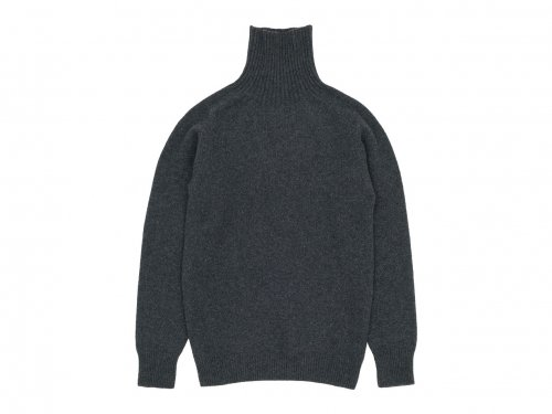 MARGARET HOWELL MERINO CASHMERE ROLL NECK KNIT 023CHARCOAL 〔メンズ〕