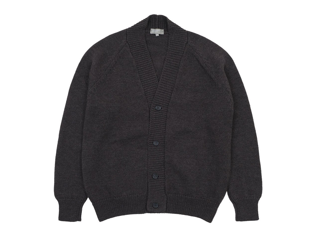 MARGARET HOWELL FINE MERINO WOOL KNIT CARDIGAN 052BROWN 〔メンズ〕