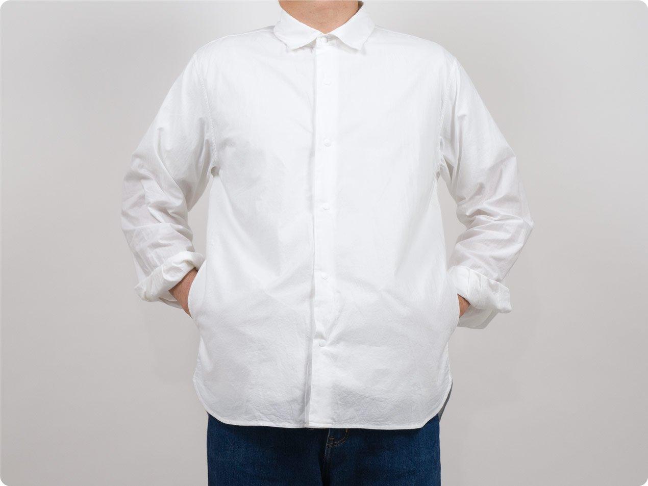 YAECA コンフォートシャツ リラックス ロング WHITE 〔メンズ〕