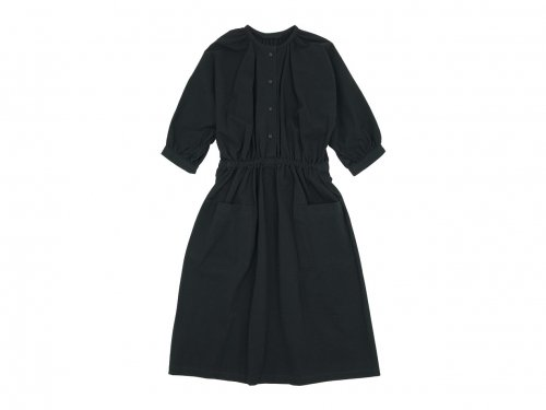 Atelier d'antan Meurent(ムーラン) dolman gathered one-piece BLACK