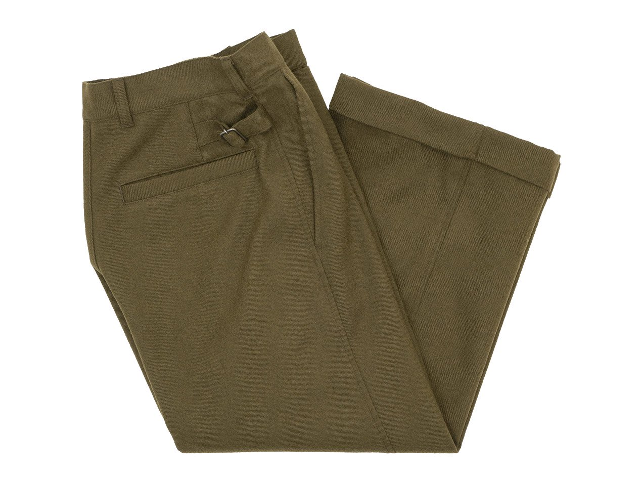 MHL. WOOL COTTON DRILL TROUSERS 180OLIVE 〔レディース〕