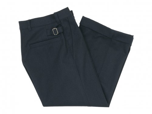 MHL. WOOL COTTON DRILL TROUSERS 121NAVY 〔レディース〕