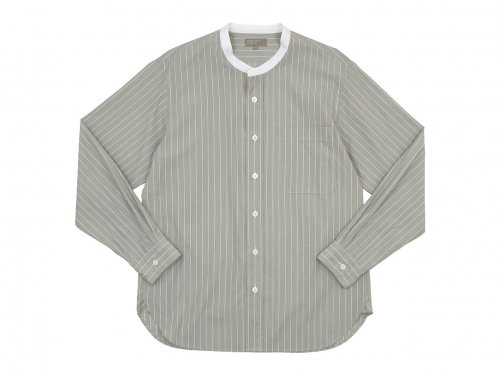 MARGARET HOWELL HAIRLINE STRIPE COTTON POPLIN SHIRTS 043BEIGE 〔メンズ〕