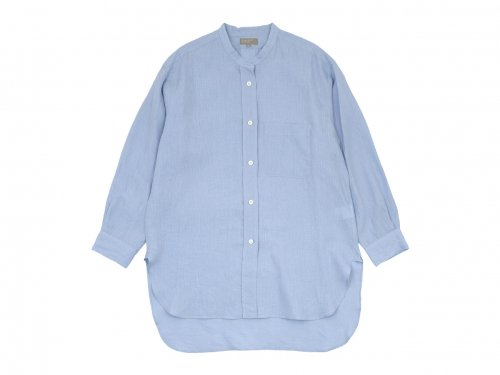 MARGARET HOWELL SHIRTING LINEN LONG SHIRTS 112BLUE 〔レディース〕