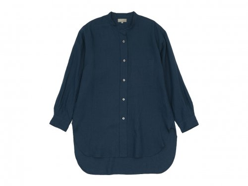 MARGARET HOWELL SHIRTING LINEN LONG SHIRTS 120NAVY 〔レディース〕