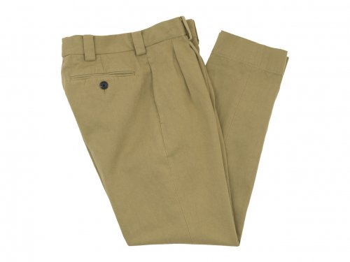 MARGARET HOWELL HEAVY COTTON DRILL TROUSERS 040BEIGE 〔メンズ〕