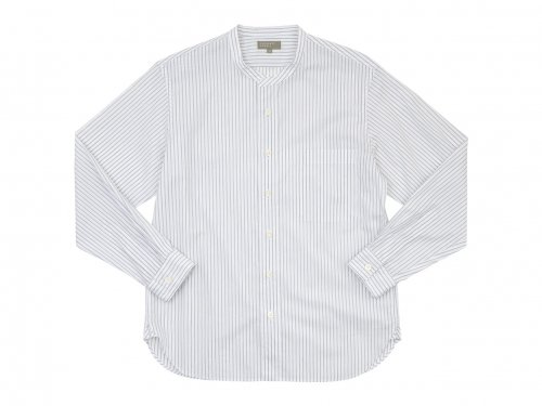 MARGARET HOWELL TEXTURED STRIPE COTTON SHIRTS 034WHITE 〔メンズ〕