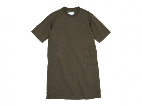 MHL. DRY COTTON LINEN ONE-PIECE 052BROWN 〔レディース〕