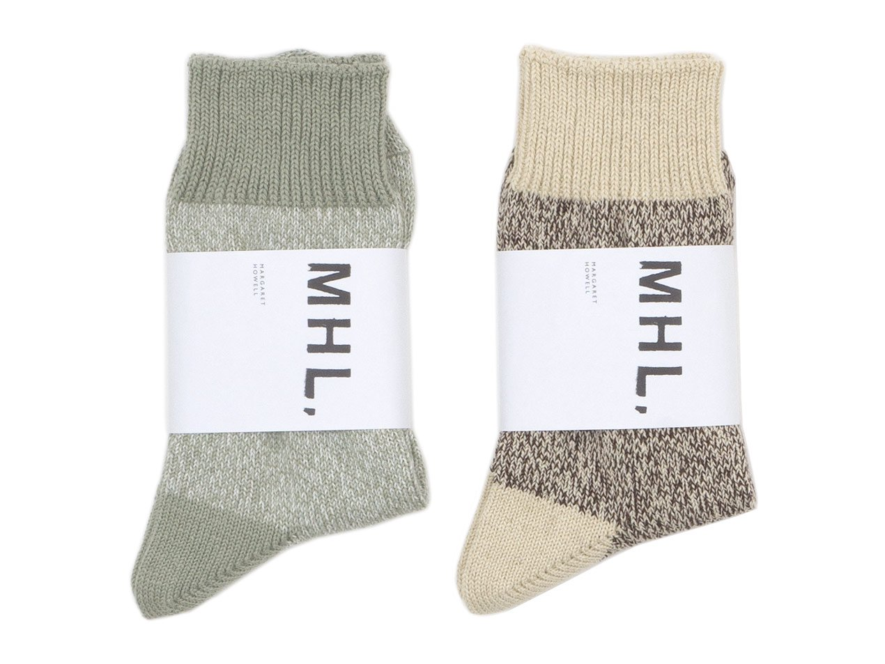 MHL. MELANGE COTTON LINEN SOCKS 〔レディース〕