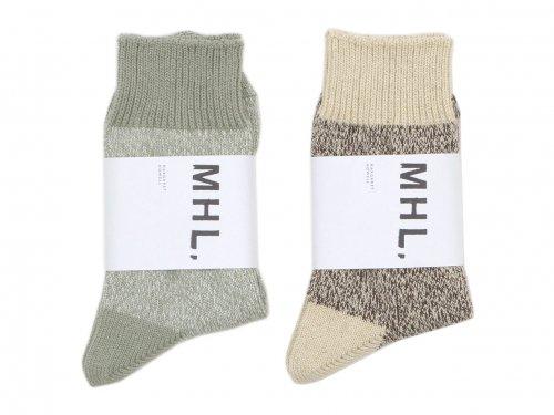MHL. MELANGE COTTON LINEN SOCKS 〔レディース〕