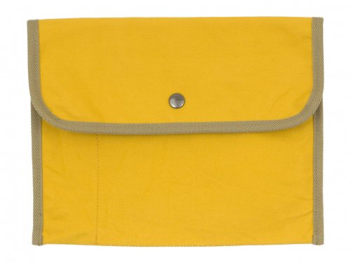 MHL. BASIC COTTON CANVAS POUCH LARGE 060YELLOW