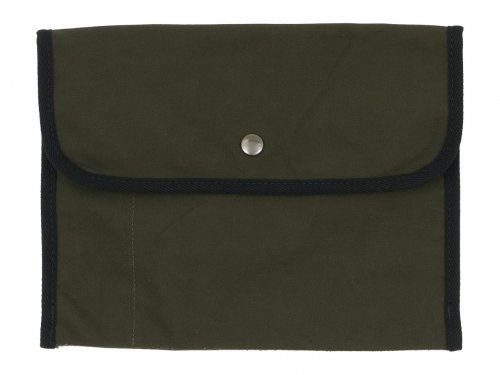 MHL. BASIC COTTON CANVAS POUCH LARGE 180KHAKI