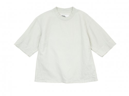 MHL. DRY COTTON LINEN PULLOVER 032WHITE 〔メンズ〕