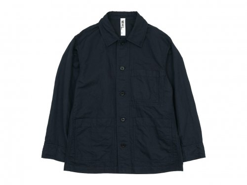 MHL. DRY COTTON LINEN TWILL BLOUSON 121NAVY 〔メンズ〕
