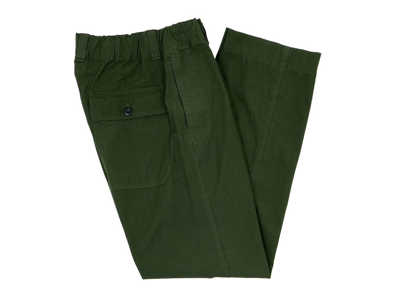 MHL. FINE COMPACT COTTON POPLIN TROUSERS 143GREEN〔メンズ〕