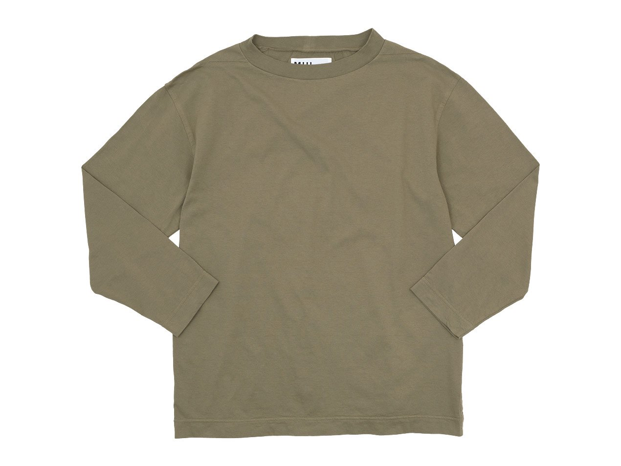 MHL. LIGHT COTTON JERSEY CUT-SEW 044KHAKI BEIGE 〔メンズ〕