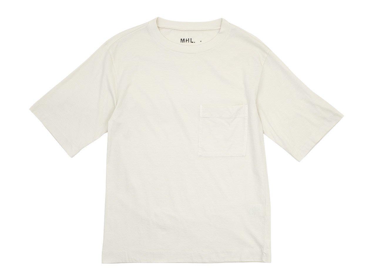 MHL. GARMENT DYE BASIC JERSEY T-SHIRTS 091GRAYISH WHITE 〔メンズ〕