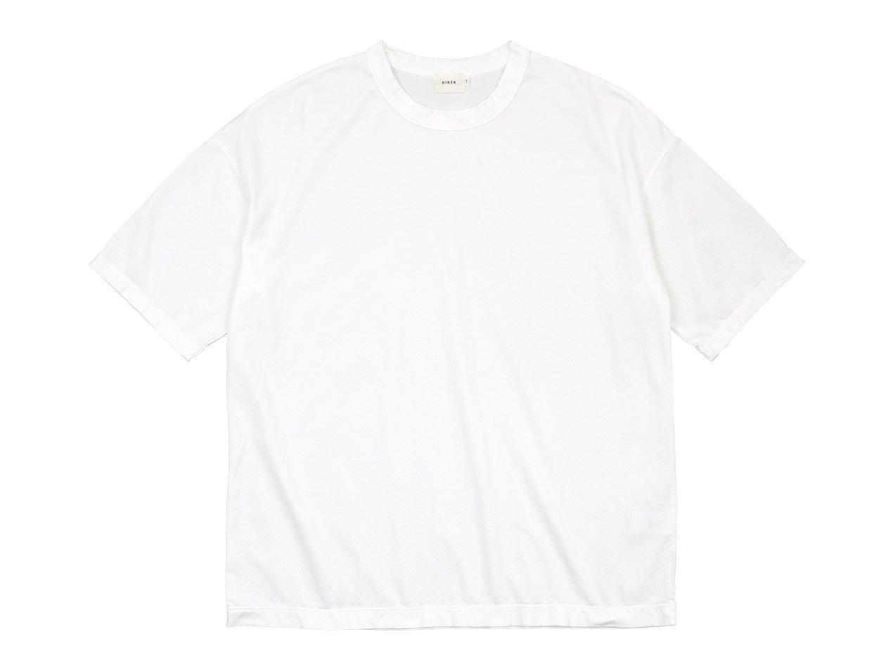 RINEN 60/2天竺 半袖ワイドTシャツ 01ホワイト 〔メンズ〕