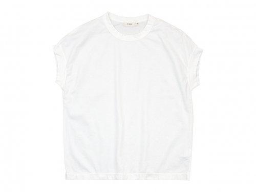 RINEN 60/2天竺 フレンチスリーブTシャツ 01ホワイト 〔レディース〕