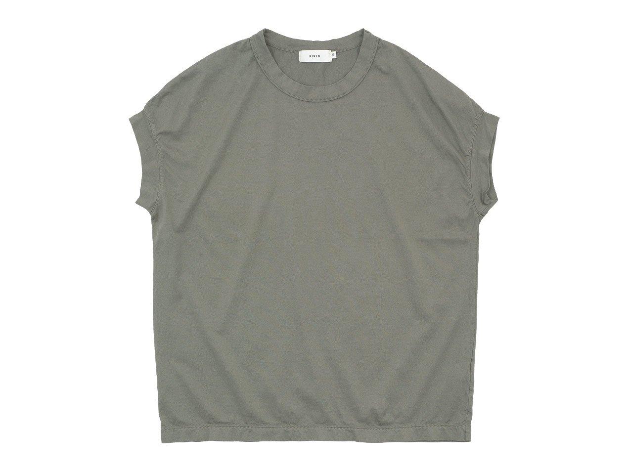 RINEN 60/2天竺 フレンチスリーブTシャツ 09オリーブ 〔レディース〕