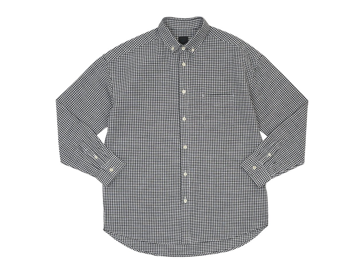 maillot sunset relax B.D. shirts BLACK GINGHAM