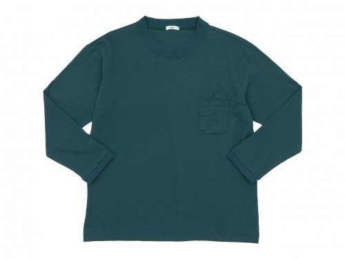 maillot US cotton double pocket long-Tee GREEN