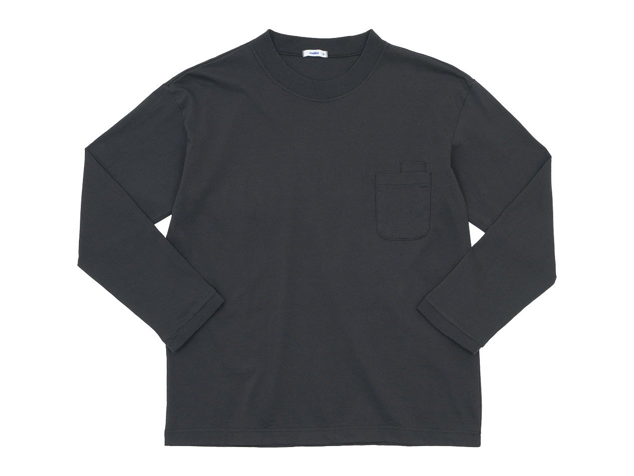 maillot US cotton double pocket long-Tee CHARCOAL