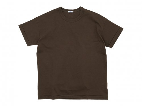 maillot super heavy cotton relax Tee BROWN