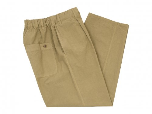 maillot mature rub cotton easy pants BEIGE