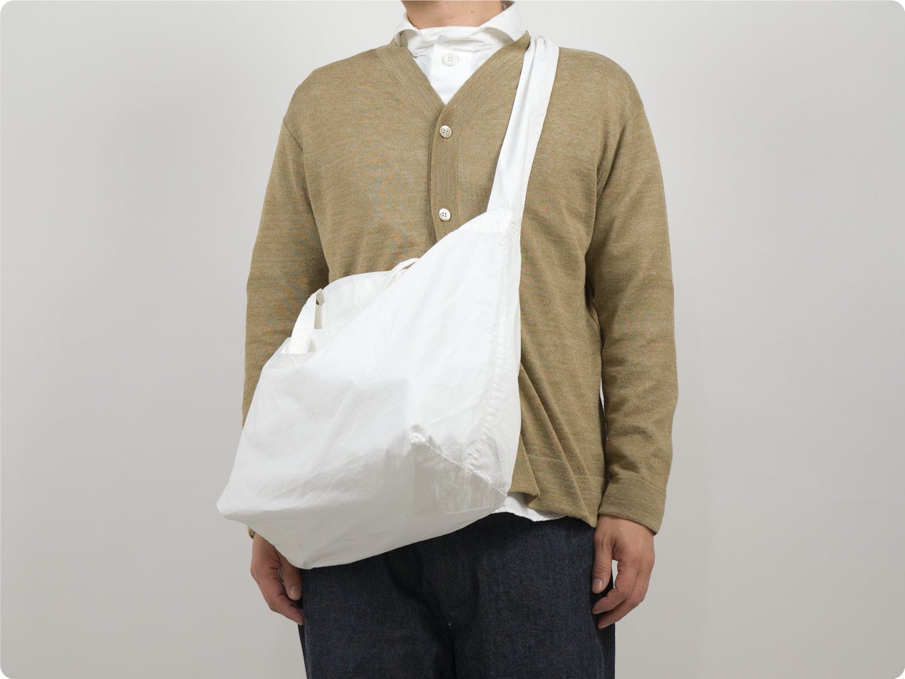 TOUJOURS Shoulder Tote Bag DUSTY WHITE【TM32AA04】