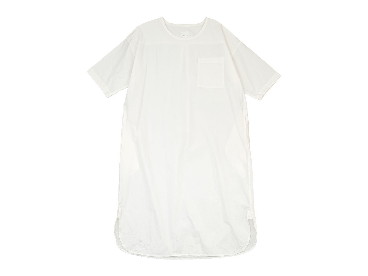 TOUJOURS Crew Neck Boy's Shirt Dress DUSTY WHITE【SM32BD02】
