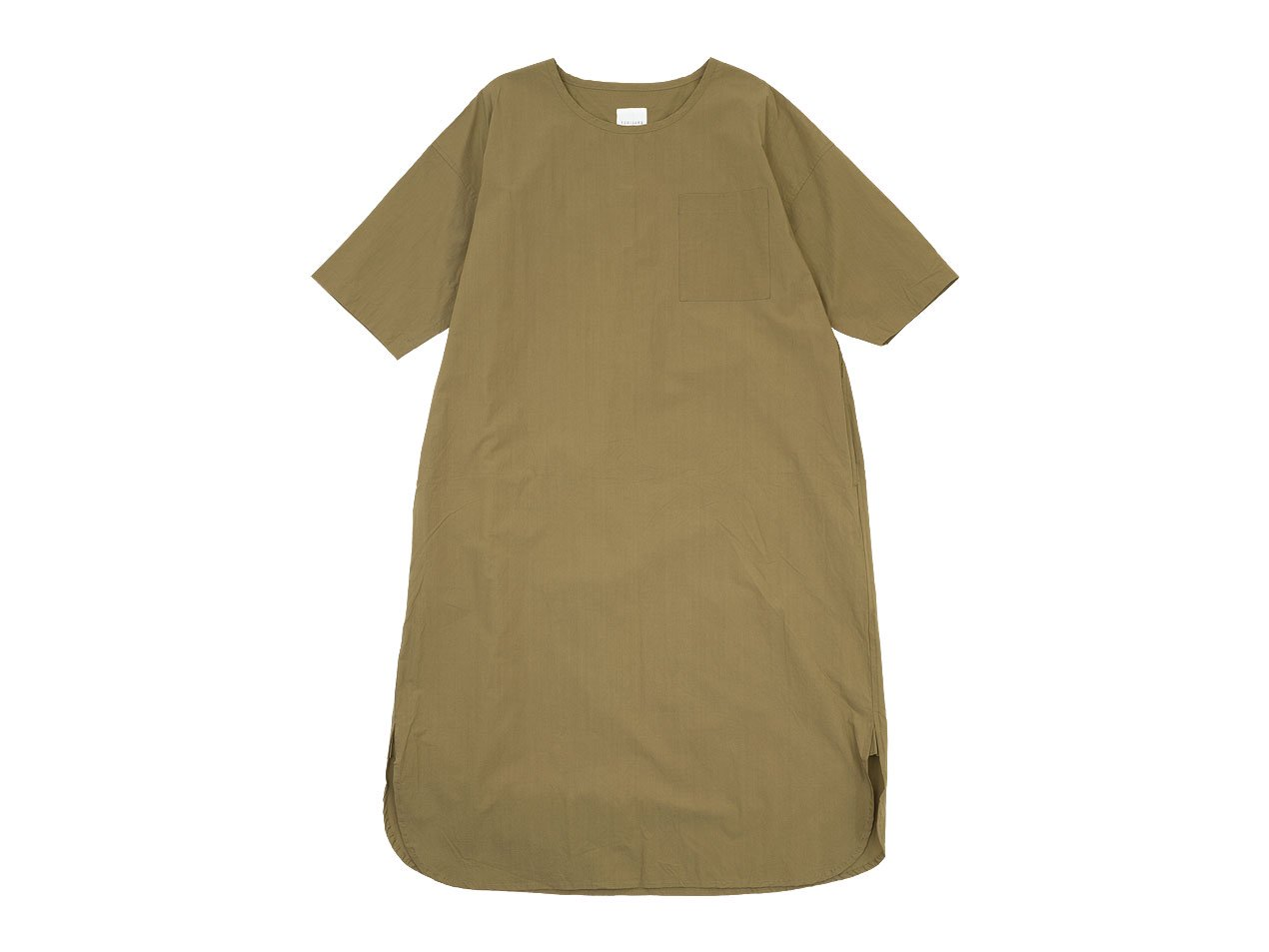 TOUJOURS Crew Neck Boy's Shirt Dress TOBACCO【SM32BD02】