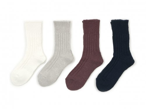 TOUJOURS Bulky Yarn Cotton Rib Socks 【FM32XA01】