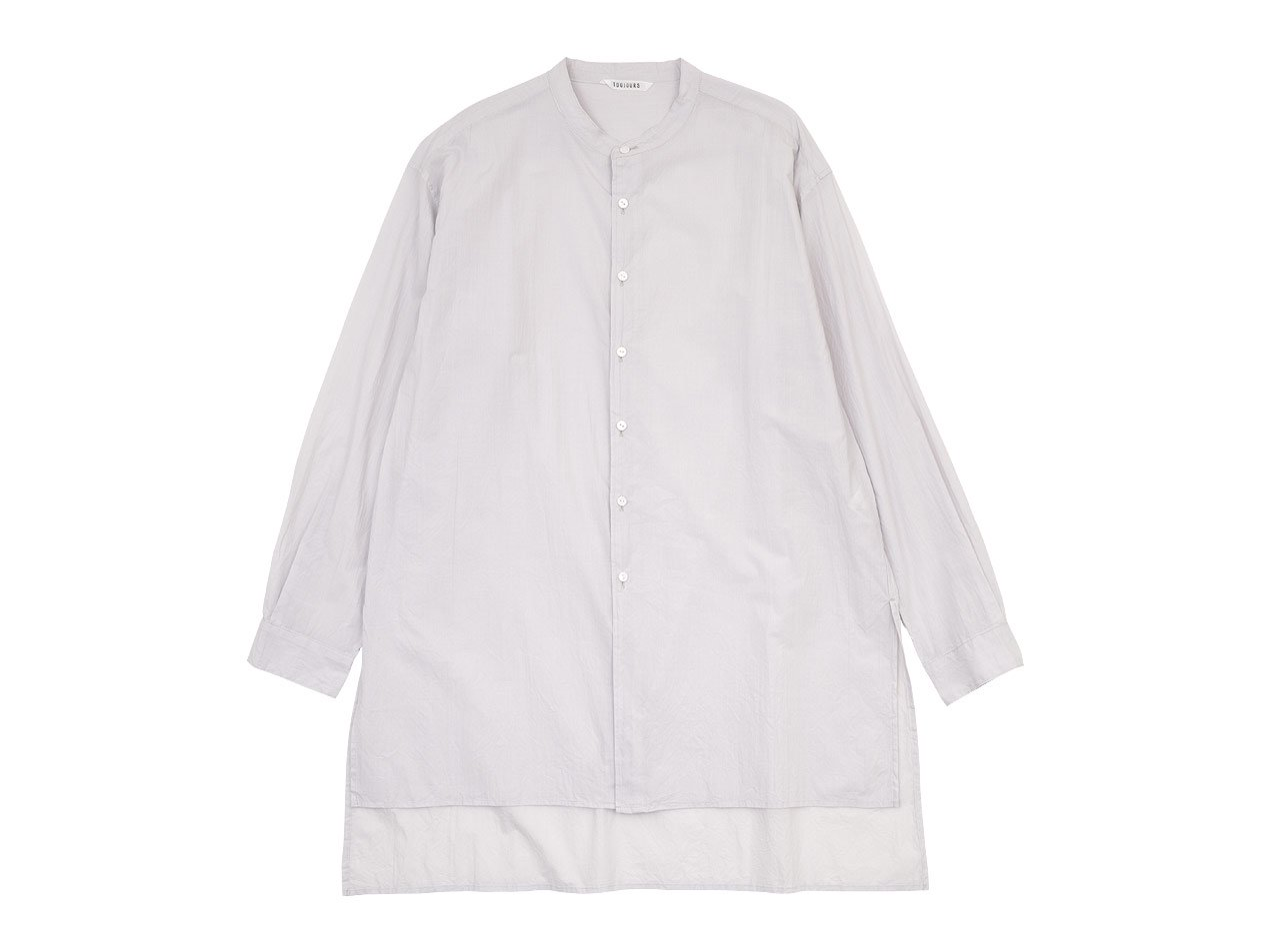 TOUJOURS Kurta Shirt SMOKE WHITE【MM32NS01】