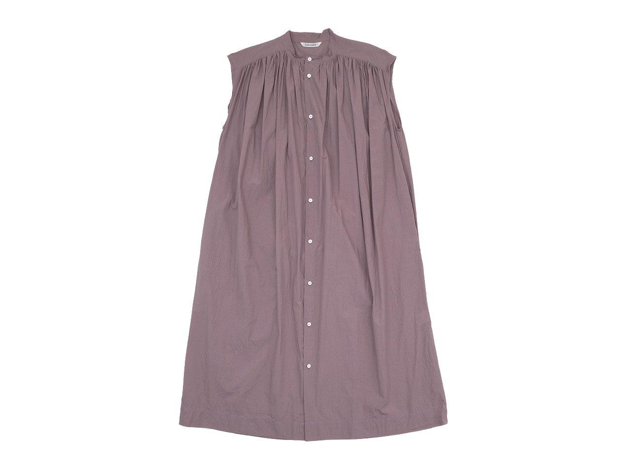 TOUJOURS Pleated Sleeveless Shirt Dress DUSTY ROSE 【MM32ND03】