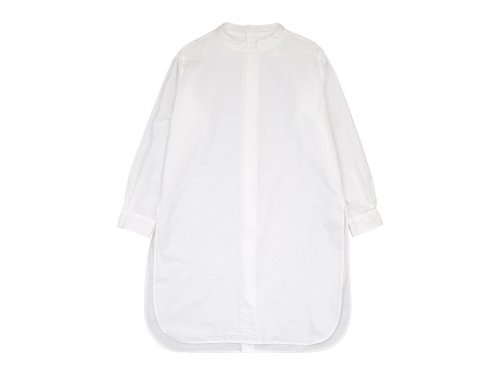 TOUJOURS Back Button Long Shirt WHITE 【MM32PS01】