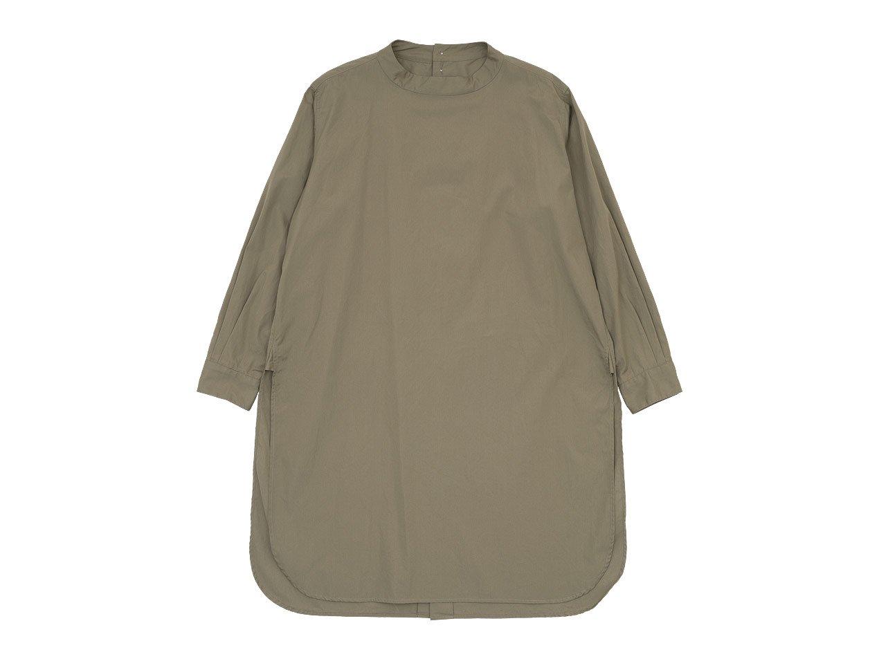 TOUJOURS Back Button Long Shirt MOCHA 【MM32PS01】