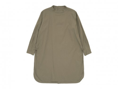 TOUJOURS Back Button Long Shirt MOCHA 【MM32PS01】