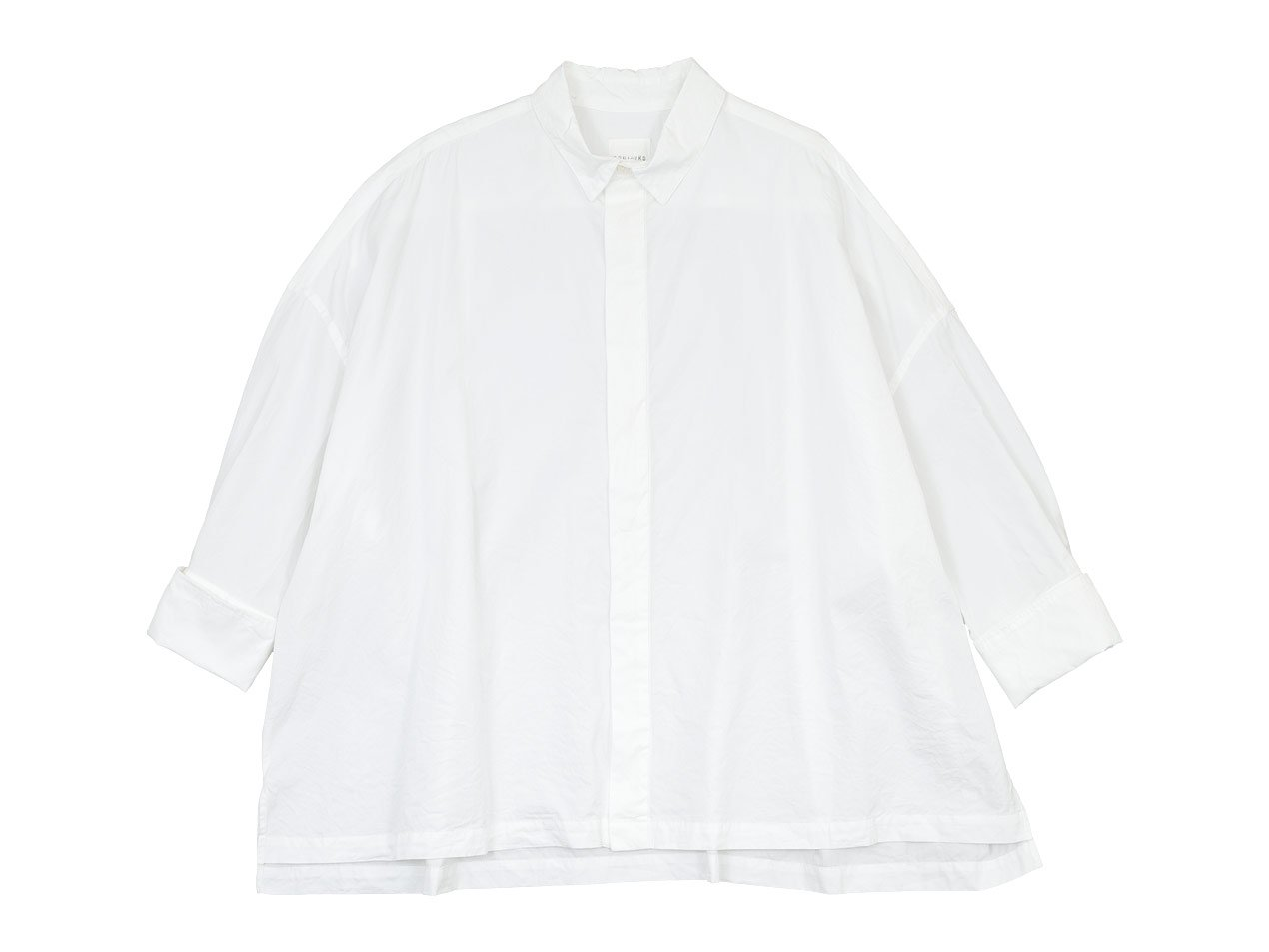 TOUJOURS Double Cuffs Wide Shirt WHITE 【MM32PS03】