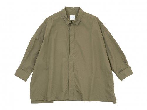 TOUJOURS Double Cuffs Wide Shirt MOCHA 【MM32PS03】