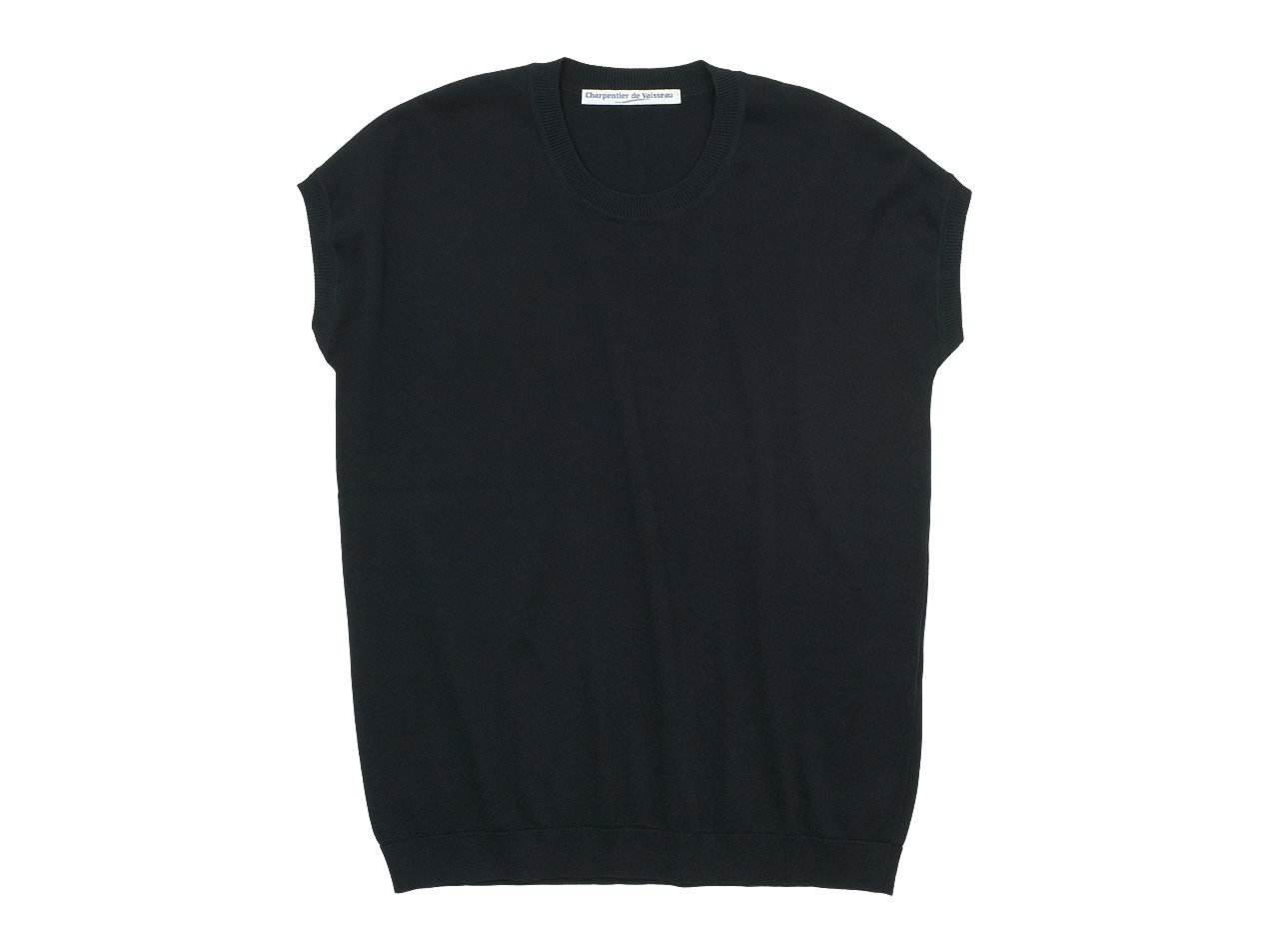 Charpentier de Vaisseau Klera Cotton Knit French Sleeve BLACK