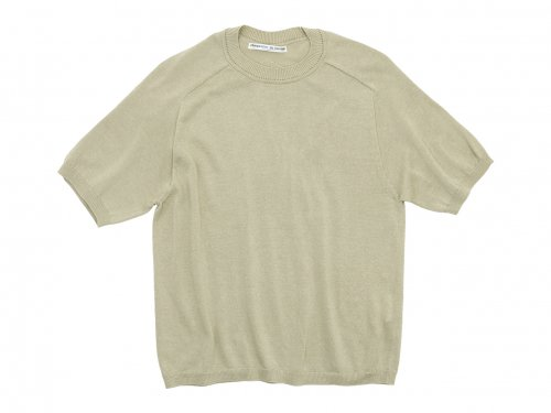 Charpentier de Vaisseau Klim Cotton Knit Short Sleeve BEIGE