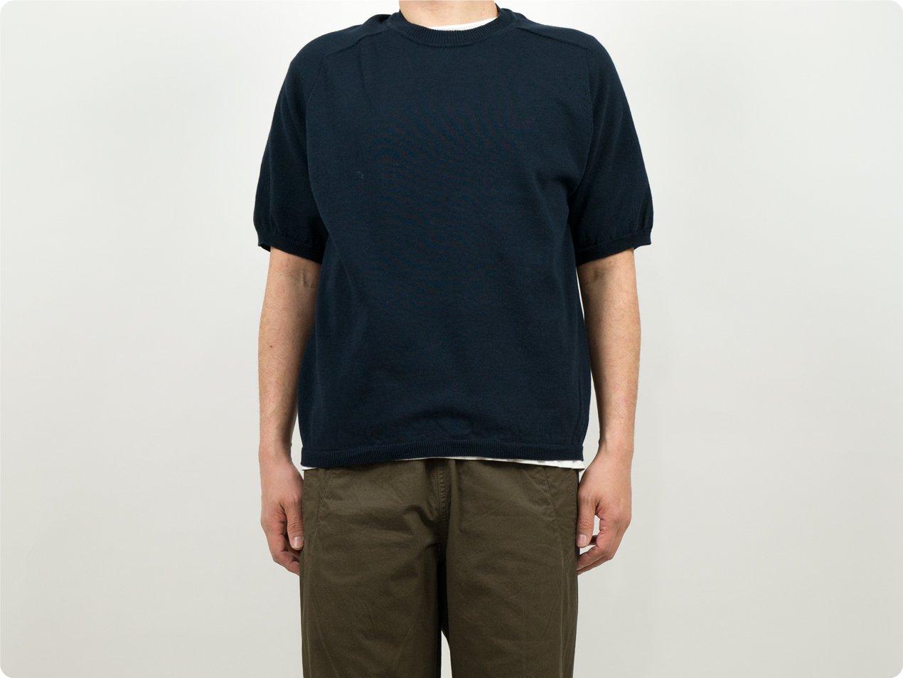 Charpentier de Vaisseau Klim Cotton Knit Short Sleeve NAVY